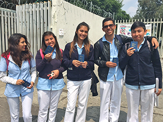 Mexican Students with Testaments